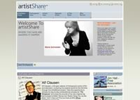 thumbnail of artistShare website