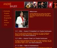 thumbnail of André Bauer's website