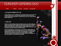 thumbnail of the website of the Duncker-Oerding Duo