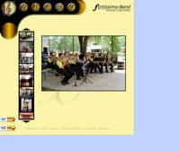 thumbnail of the fortissimo–Band's website